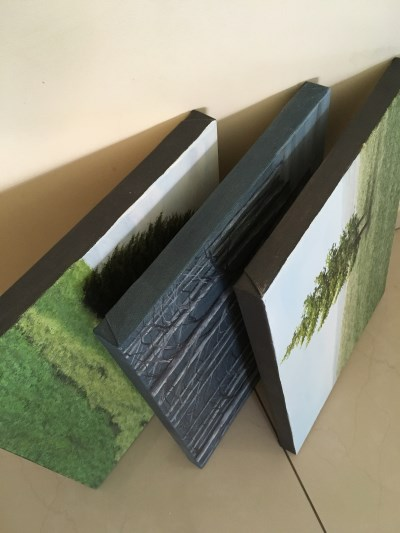 Canvases with painted sides