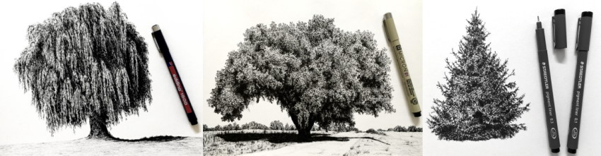 Examples from my guide on drawing trees