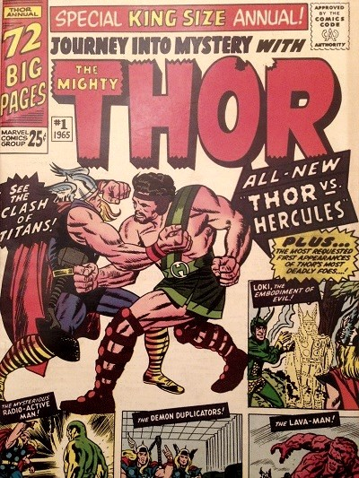 Comic book of Hercules first appearance