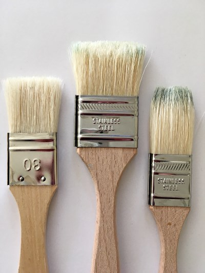 Hog bristle large flat paintbrushes