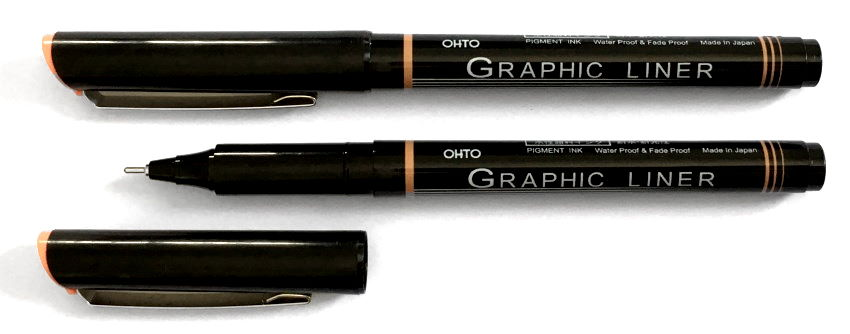 Ohto graphic liner pen for drawing