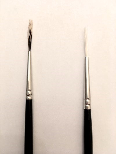 Liner synthetic brush for signature