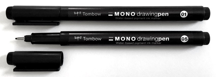 Tombow MONO pens for drawing