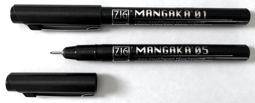 Zig Mangaka technical pen for drawing
