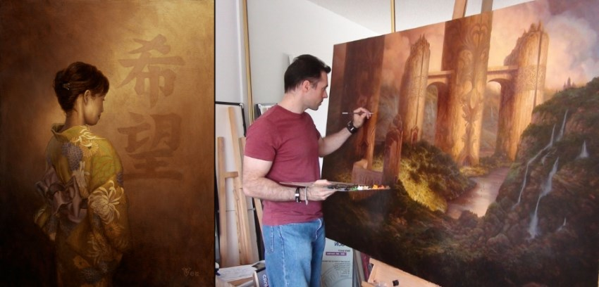 Artist of the month, painter Christophe Vacher
