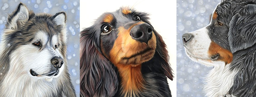 Pet dogs portrait paintings by Donna