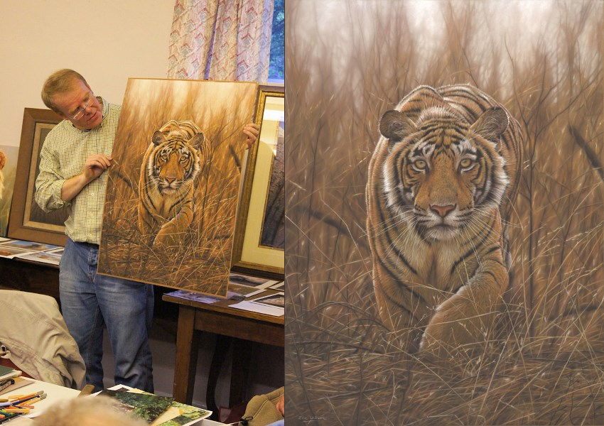 Eric Wilson and his tiger painting