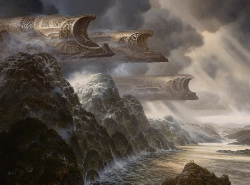 Fantasy concept art oil painting by Christophe Vacher