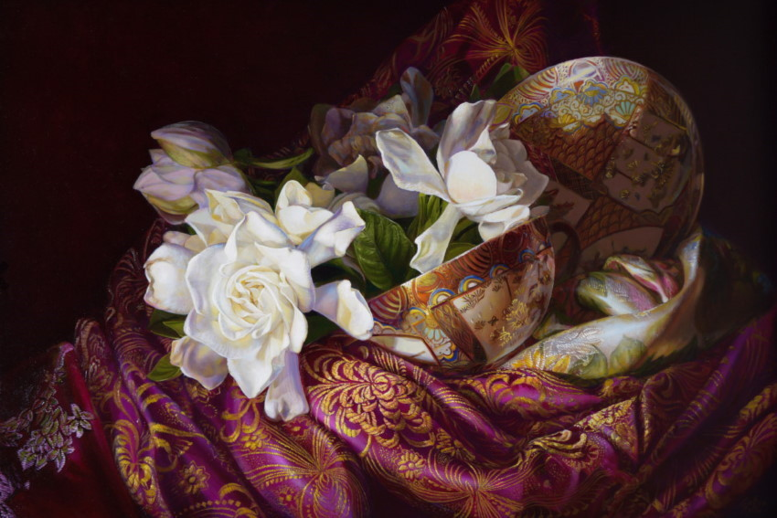 Flowers oil painting by Gatya Kelly