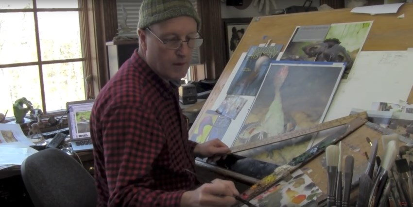 James Gurney painting YouTube channel