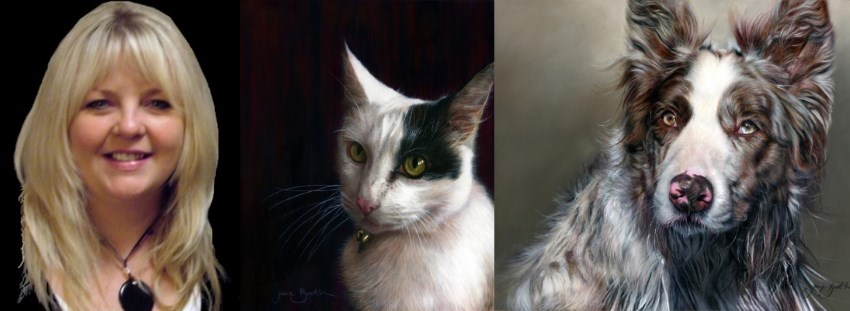 Realistic pet portraits by Jane Booth