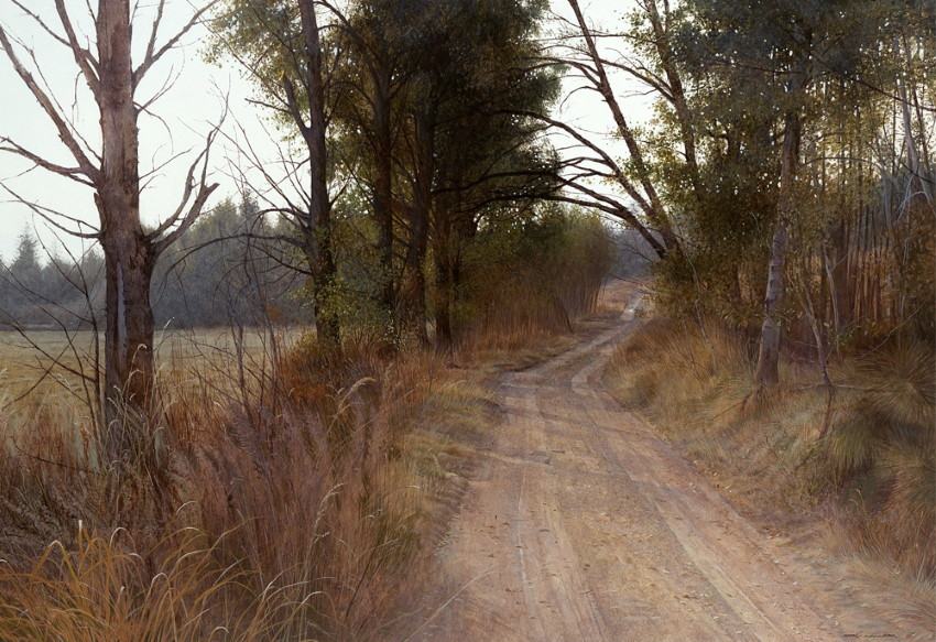 Landscape watercolor painting by Stan Miller