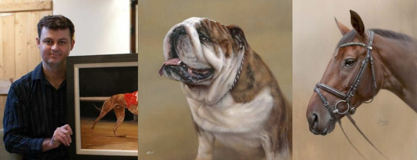Pet portrait paintings by Nicholas Beall