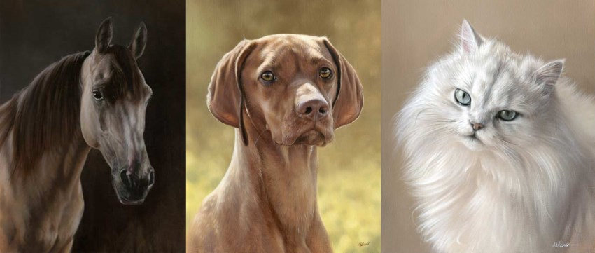 Pet portrait commissions by Nicholas Beall
