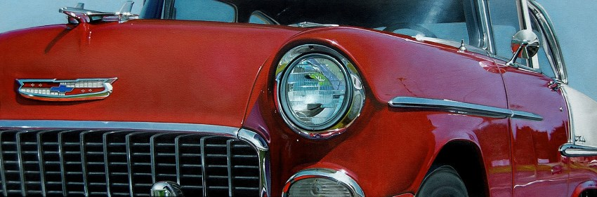 Hyperrealistic car oil painting by Neil Hollingsworth