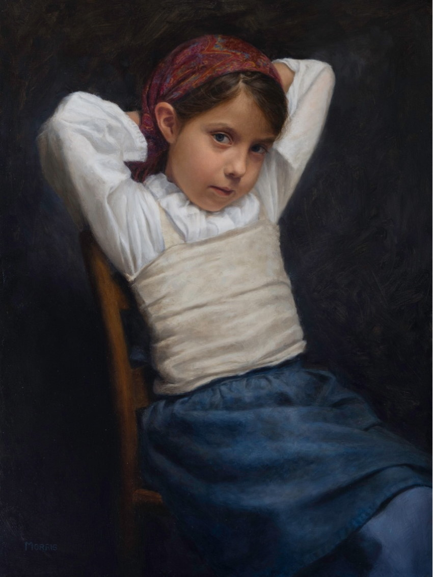 Girl portrait, oil painting by Kathy Morris