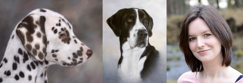 Pet portrait painting by Rachel Stribbling