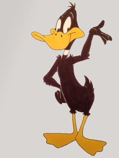 Comics drawing of Daffy Duck, Looney Tunes characters