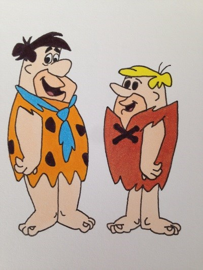 Cartoon character, The Flintstones,