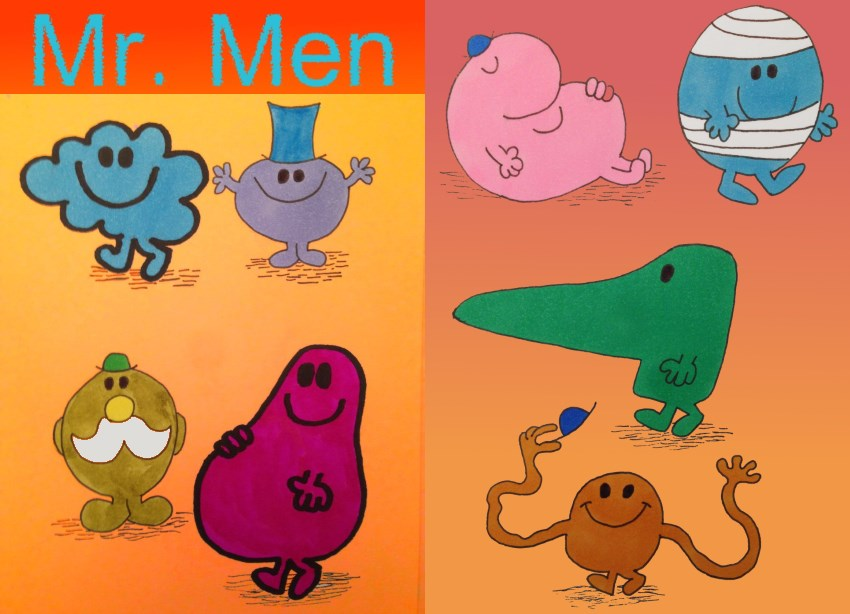 Comics drawing and painting Mr. Men