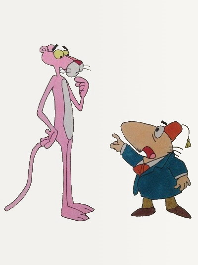 Cartoon character, the Pink Panther