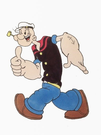 Cartoon character, Popey the Sailor