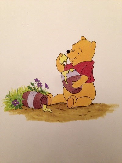 Comics drawing and painting, Winnie the Pooh