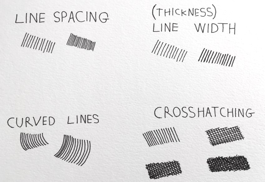 Hatching and crosshatching types