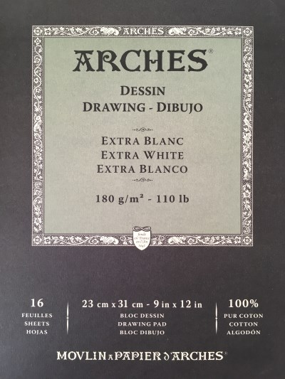 Arches white paper sheets pad