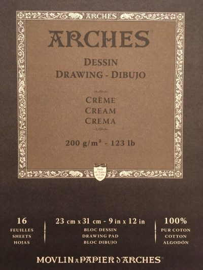Arches Cream paper sheets pad
