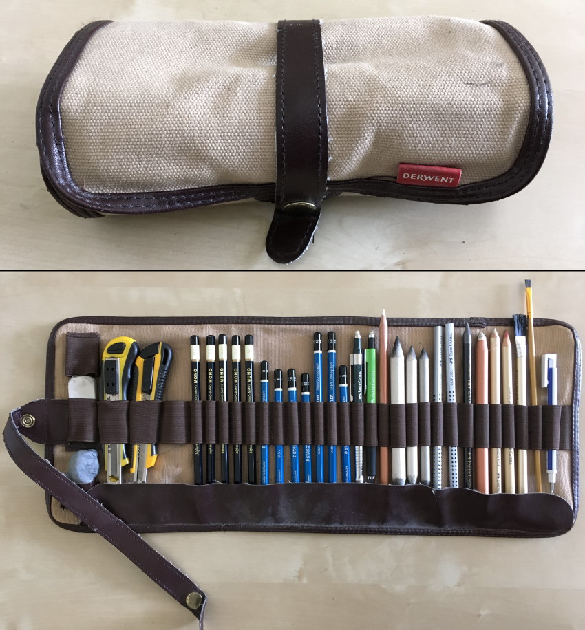 Derwent case for drawing materials