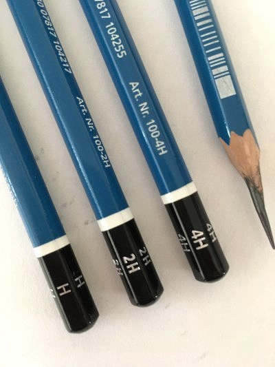 Staedtler drawing pencils with H levels