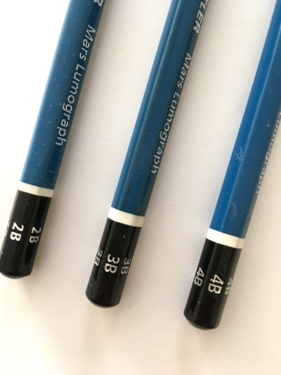 Staedtler drawing pencils with B levels