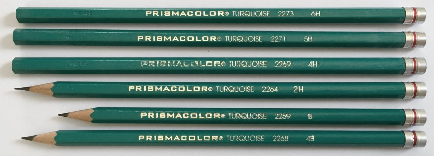 Prismacolor Turquoise drawing pencils