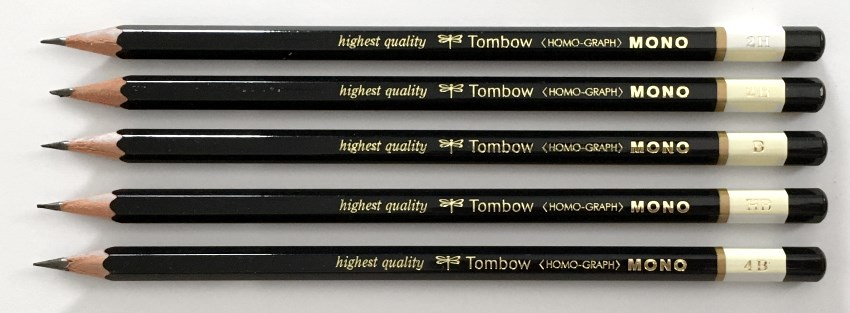 Tombow MONO drawing pencils