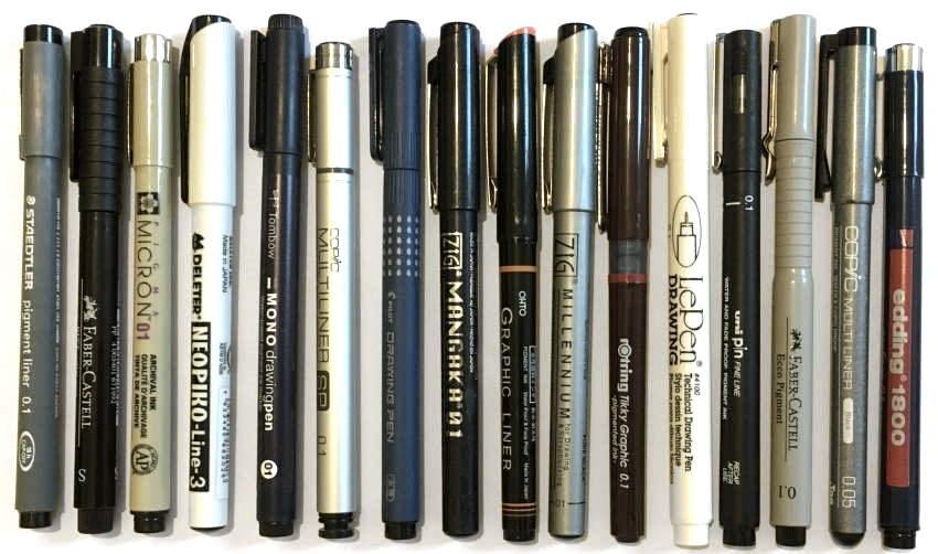 Zig Millennium Waterproof Drawing Pen - Acid Free 05 5 pce Set
