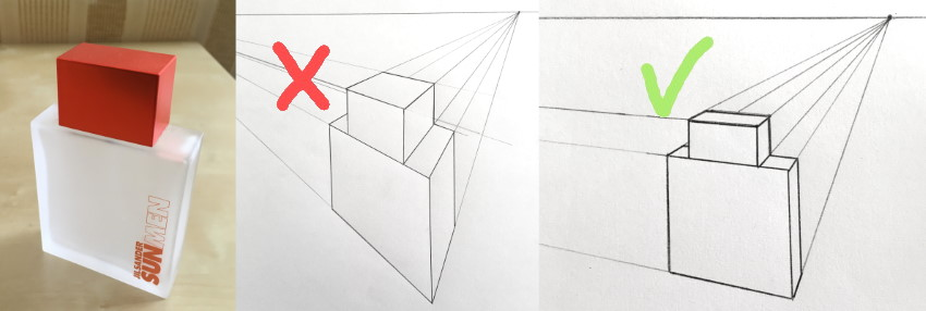 The use of vanishing points to draw correctly