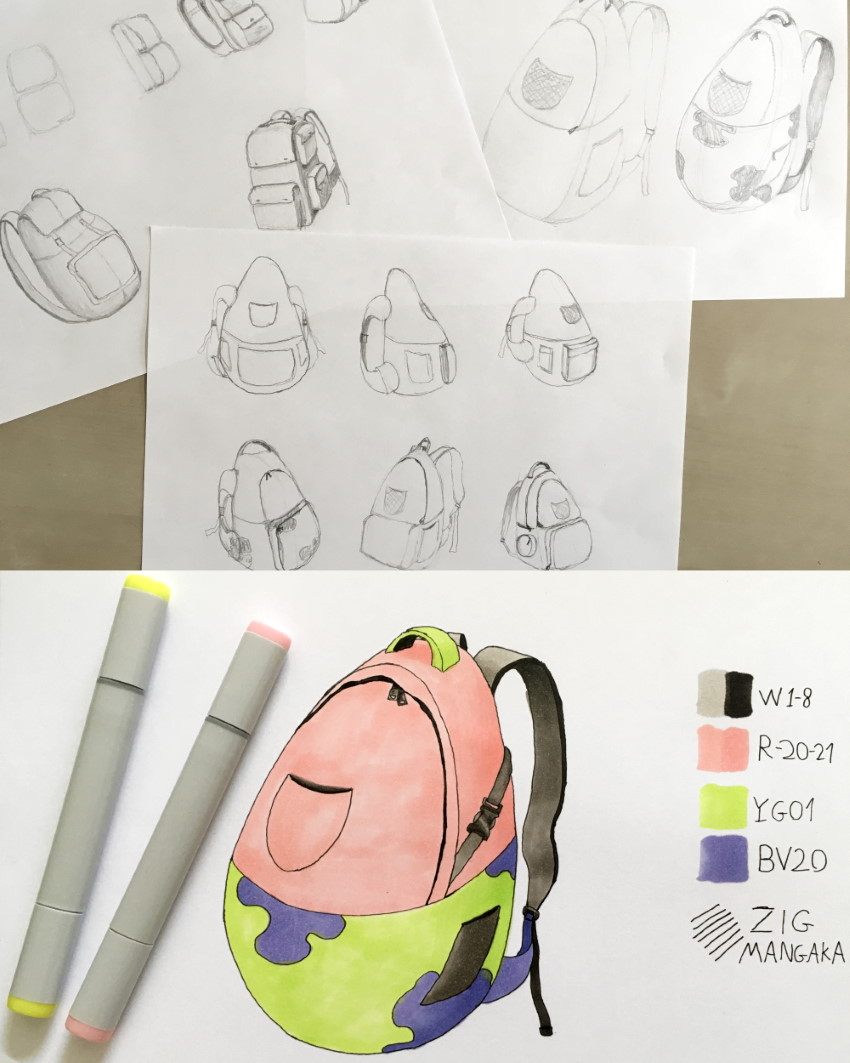 Patrick from SpongeBob backpack product design